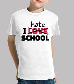 odio la escuela