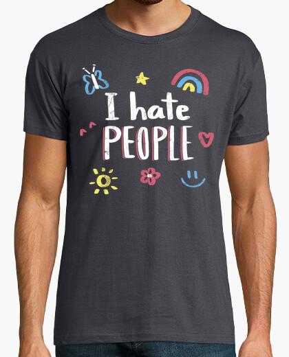T-shirt Odio le persone