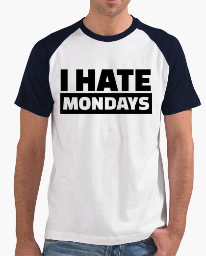 Camiseta odio los lunes