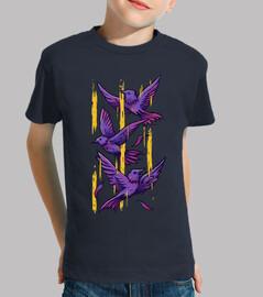 Oiseaux  Violets