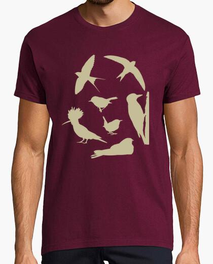 Tee-shirt oiseaux (brouillées homme)