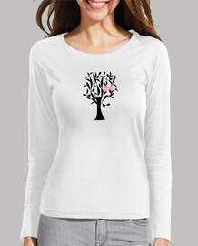 oiseaux dans l'amour sur un arbre