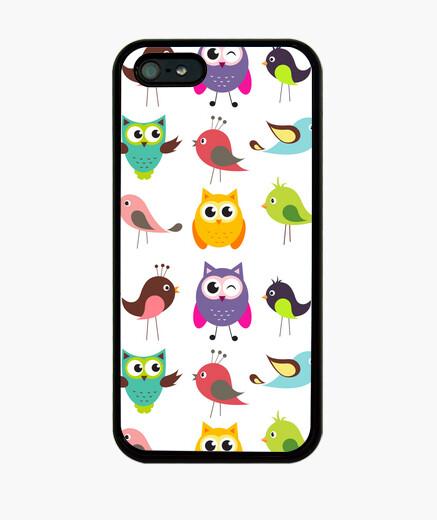 Coque iPhone oiseaux de bande dessinée and hiboux