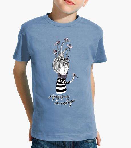 Vêtements enfant oiseaux sur la tête - dessin animé noir