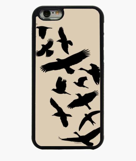 Coque Iphone 6 / 6S oiseaux volant - noir