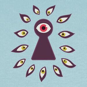 Camisetas ojo a través del ojo de la cerradura mi