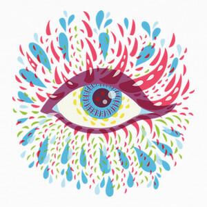 Tee-shirts ojo psicodélico azul extraño