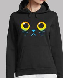 ojos curiosos - gato negro