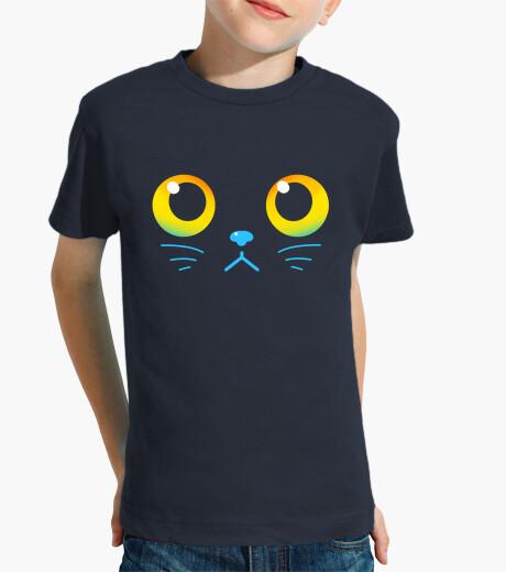 Ropa infantil ojos curiosos - gato negro - camisa de niños