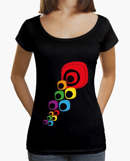 Camiseta Ojos de colores Mujer, cuello ancho
