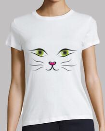 Ojos de gato blanca