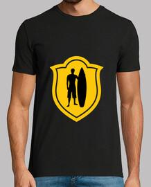 olas camiseta hombre, negro, mejor calidad