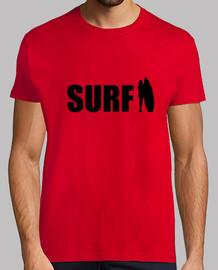 olas camiseta hombre, rojo, de calidad superior