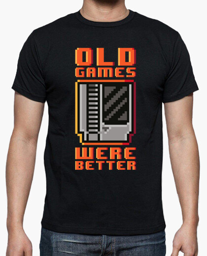 Camiseta Old games were better (cartucho)