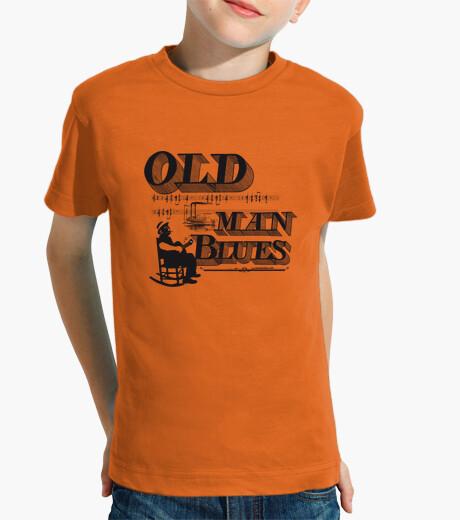 Old man blues children's clothes