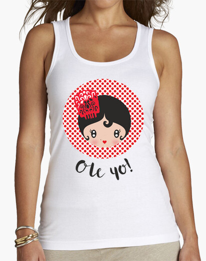 Ole me! - woman, without sleeves, white...