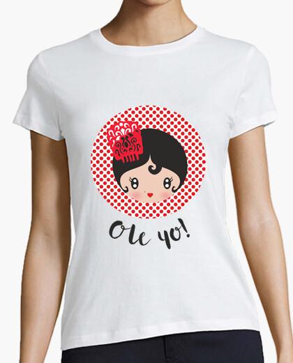 Camiseta Ole yo! - Mujer, manga corta,...