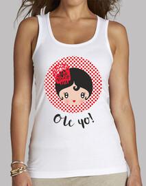 Ole yo! - Mujer, sin mangas, blanca