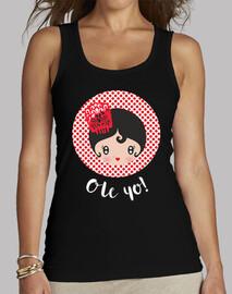Ole yo! Black - Mujer, sin mangas, negra