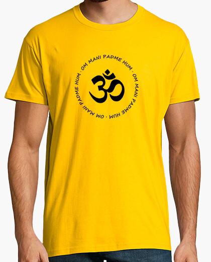 Camiseta Om Mani Padme Hum negro