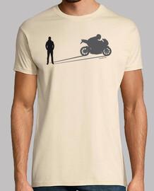 ombre moto homme