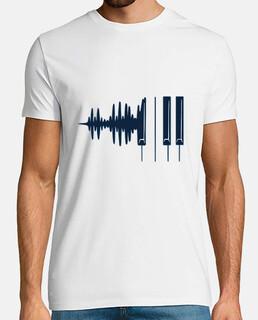 ondas de sonido de piano