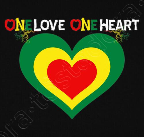 tee shirt one love one heart reggae 1038482. Black Bedroom Furniture Sets. Home Design Ideas