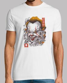 oni clown masque chemise mens