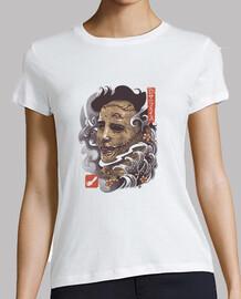 Oni Leather Mask Shirt Womens