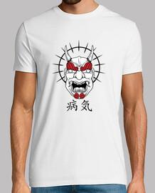 oni minimalist japanese t shirt yokai ogre mask red sun