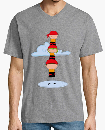 Orange castellers t-shirt
