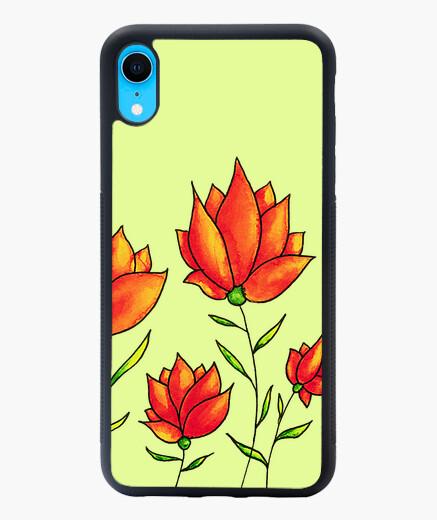 Orange Flowers Spring Watercolor iphone xr...