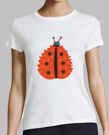 orange ladybug with autumn leaf mask