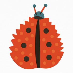 Orange Ladybug With Autumn Leaf Mask T-shirts