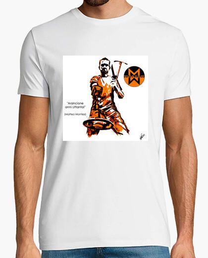 Tee-shirt orange montesi années uttanta