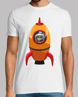 Orange Rakete schädel / totenkopf - Ast