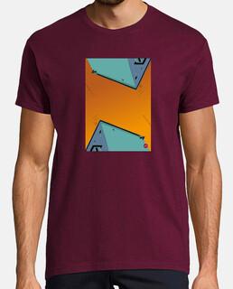 Orange Sky. Aplícalo sobre diferentes colores y estilos de camiseta de niño y adulto