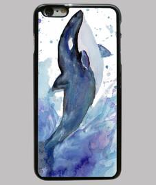 orca acuarela