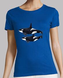 Orca duo (Orcinus orca) camiseta