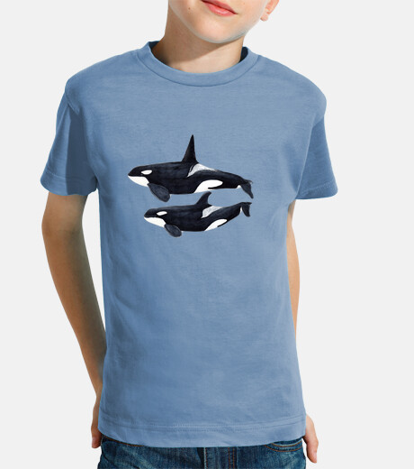 orca duo (orcinus orca) t-shirt child