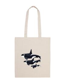 orca sac en tissu de coton 100