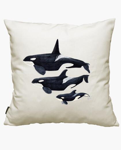 Fodera cuscino orche (orcinus orca)