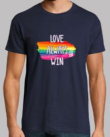 Orgullo Gay, Hombre, manga corta, azul marino, calidad extra