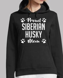 orgullosa mamá husky siberiano