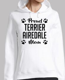 orgullosa terrier airedale mamá