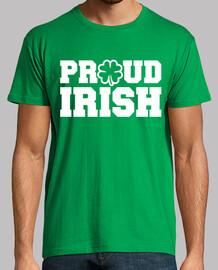 orgulloso irlandés shamrock