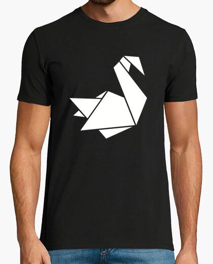 Camiseta origami cisne