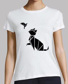 origami: die katze & der vogel