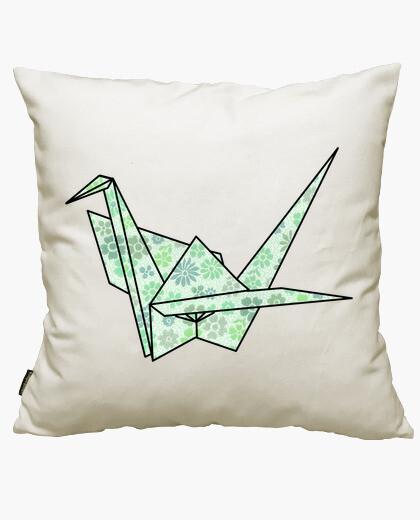 Housse de coussin origami noeud papillon