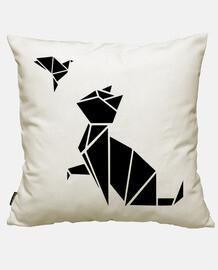origamis: le chat et l'oiseau